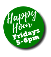 happy hour fridays 5-6pm